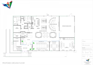 2D office design example for our client Integra