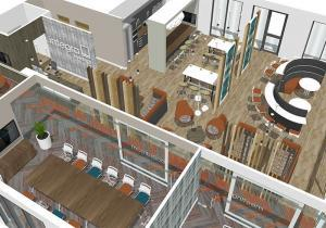 3D office design example for Integra