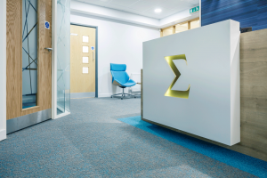 Smailes Golide reception after office fit out