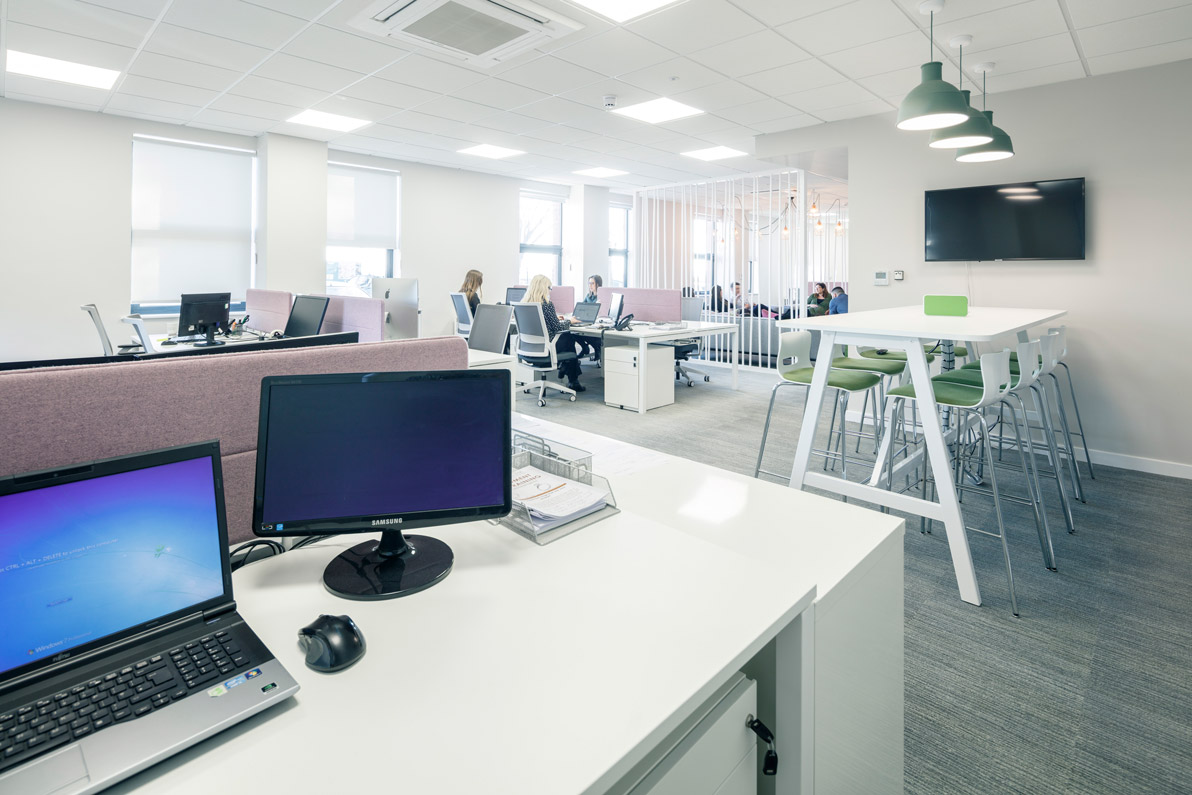 Example of office design centred around communication and technology